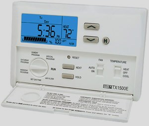 Lux Lighted Programmable Thermostat